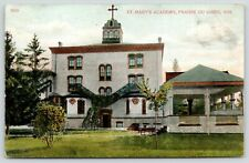 Prairie du Chien Wisconsin~St Mary's Academy~Summerhouse~1907 Postcard