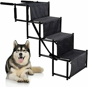 Upgraded Folding Pet Dog Car Boot Access Steps Ladder Stairs Strong Lightweight