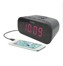 Timex Digital Dual Alarm AM/FM Clock Radio w/ Line-In Red Display New MP3 equipt