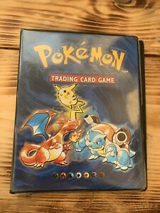 ORIGINAL 1999 WOTC CHARIZARD FOLDER / BINDER / BOOK FULL OF POKÉMON CARDS
