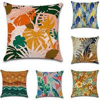 18x18'' Plant Decorative Pillow Case Linen Sofa Throw Cushion Cover Home Decor