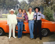 Dukes Of Hazzard Color Cast By General Lee 16x20 Canvas Giclee