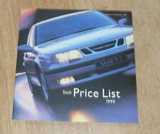 Saab Price List 1999 9-3 Coupe Convertible 9-5 Griffin