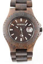 Bewell Reloj de madera Fecha choccolate Sándalo 42mm Hombre mujer Producto A