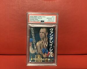 Pride GP 2006 Signed Card Wanderlei Silva PSA DNA Authenticated And Graded 10