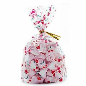 Gift Wrap Packaging Bags Transparent Sweets Candies Cookies Storage Pouch 50/pcs