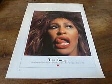 TINA TURNER & MIA FARROW - Mini poster couleurs recto-verso !!!!!!!!!