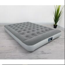 "Bestway 12"" Air Mattress with Built-in Pump Soft-Top Pillow Airbed QUEEN"