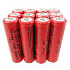 12X 3.7V-4.2V 18650 Li-Ion 6000mAh Rechargeable Battery for Flashlight Hiking RC