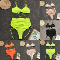 Sexy Swimsuit Push Up High Waist Swimwear Womens Brazilian Bandage Bikini Set