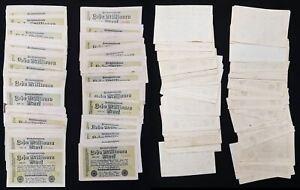 Lot 100 Geldscheine 1 Oktober 1923 100 x 10 Millionen Mark Reichsbanknote  63831