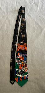 DENVER BRONCOS Surrey 1993 Looney Tunes Men's Tie Football Colorado Bugs Bunny