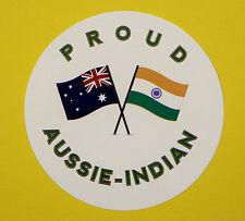 PROUD AUSSIE - INDIAN AUSTRALIAN STICKER VINYL DECAL CAR UTE TRUCK CARAVAN INDIA