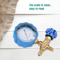HighQ Air Condition Manifold Gauge Manometer& Valve Fit For R404a R22 R410 R134A