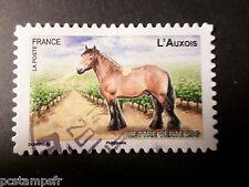 FRANCE 2013, timbre AUTOADHESIF 823 CHEVAL AUXOIS, oblitéré STAMP HORSE