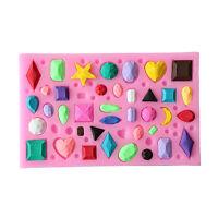 Moule en silicone fondant en forme de gemme 3D moule à gâteau au chocolat SugM8Y