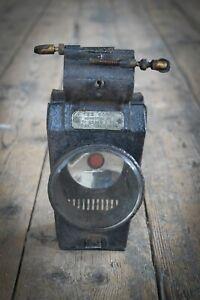 Vintage RARE Penny Farthing Ordinary Lamp Lucas & Son Original Glass Victorian