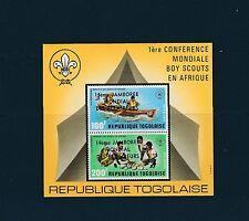 Togo bloc  scouts jamborée éclaireurs    de 1975    num:  91 ND  **