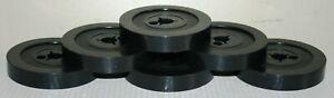 "6 Kodak 50ft Super 8mm Cine Film Spool / Reels & Covers 3"" - Black"