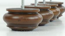 4x LEGNO CHIGNON piedi ANTICO MOBILE IN LEGNO GAMBE-DIVANO, sedie, SGABELLI M8 (8mm)
