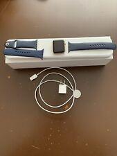 Apple Watch 42mm Smartwatch Gold Aluminum Case, Blue Sport Band (MLC72LL/A)