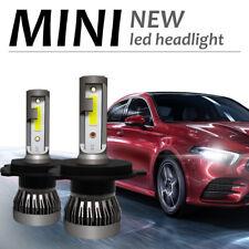 2x MINI CREE COB LED Headlight H4 9003 110W 34000LM Hi/Lo Power Bulbs Light Kit