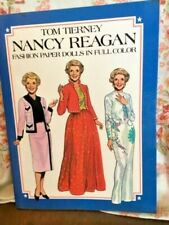 Nancy Reagan First Lady Paper Dolls by Tom Tierney Uncut 15 Pages w/ President
