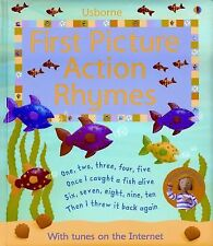 First Picture Action Rhymes: Internet Referenced (First Picture Board Books)  B