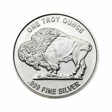 1 oz Pure .999 Silver Buffalo Rounds - Tube of 20
