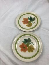 "Set Of 2 Franciscan Earthenware Floral Pattern Plates 6 5/8"" Diameter 1970s"