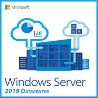Microsoft Windows Server 2019 Key Datacenter Genuine Activation License Code