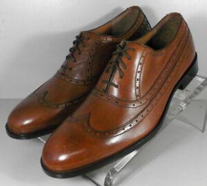 152640X SP50 Men's Shoes Size 9 M Dark Tan Leather Lace Up Johnston & Murphy
