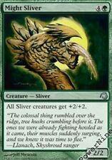 1 PreCon FOIL Might Sliver - Green PDS Slivers Mtg Magic Uncommon 1x x1