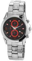 Akzent Herrenuhr Schwarz Rot Analog Datum Chrono-Look Armbanduhr X-SS7421300035