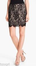 NWT $395 haute hippie lace pencil skirt black mini XS Fabulous & SOLD out