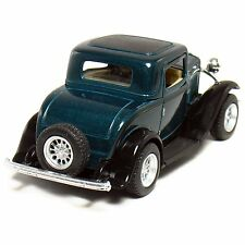 "New 5"" Kinsmart 1932 Ford 3-Window Coupe Diecast Model Toy Car 1:34 - Green"