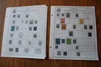 M62 Lot of Haiti & Honduras Stamps on 10 Minkus binder Pages