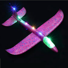Hand Throw Airplane Kids Toys Flying Glider Planes LED Lights Glow Fly Toy 48cm