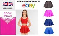 Girls Short Circular Ballet Skirt Costume Shiny Nylon Lycra