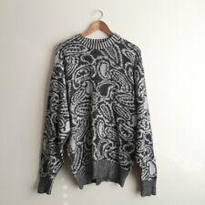 Vintage Lyle & Scott Knit Sweater Size Large Men's Scotland Gray Off White