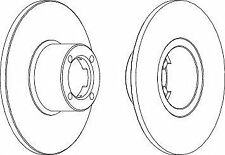 Ferodo DDF286 Front Axle Solid Brake Disc Set Replaces 21A2612