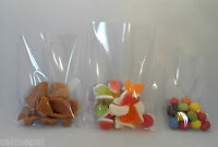 200 x Clear Cello Display gift bags Sweets, Chocolate Party Various sizes