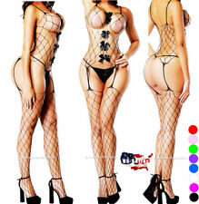 Mesh Fishnet Bodystocking Bodysuit Bow Body Stocking Net Sexy Nightwear Lingerie