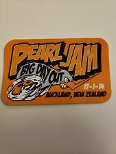 PEARL JAM VEDDER official tour sticker Auckland New Zealand