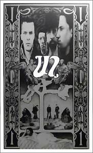 U2 Ultimate Fan Poster Steve Harradine Black & Silver Lithograph SHIPS FREE