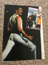 1982 Vintage 8X11 Magazine Print Color Clipping Queen'S Freddie Mercury On Stage