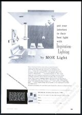 1953 Peggy Clark lamp lighting fixture designs Moe Light vintage print ad