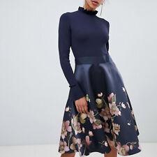 Ted Baker Seema Arboretum Frill Cuff Full Skirt Fit & Flare Midi Dress $365