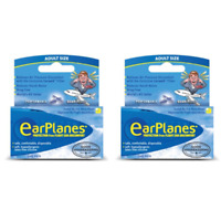 EarPlanes Silicone Earplugs Adults, 12 Years+ x 2 packs