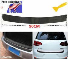 Matt Black Accessories Carbon Fiber Rear Guard Bumper 4d Sticker Panel Protect A